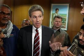 Ambassador Chris Stevens on September 11, 2012. Shortly after this photograph was taken he was gang-raped and murdered in the streets of Benghazi.